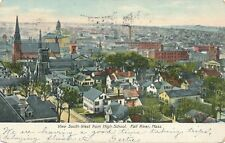 FALL RIVER MA – View South-West from High School – udb – 1906