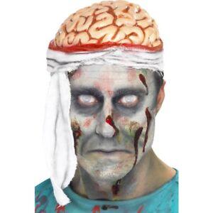 Adult Zombie Doctor Bandage Brain Hat Halloween Fancy Dress Accessory
