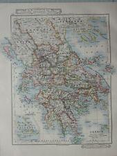 1919 MAP ~ GREECE ARCADIA CYCLADES MOREA LARISSA ARGOLIS ELLS ARTA