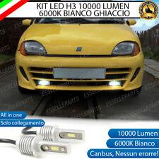 KIT LED FENDINEBBIA FIAT SEICENTO LAMPADE LED H3 BIANCO 10000 LUMEN NO ERROR