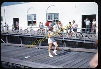 Ocean City New Jersey Boardwalk 1950s 35mm Slide Vtg Kodachrome Parade Bicycles