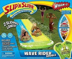 Slip N Slide Wave Rider Double 2 slide Boogies 16ft Summer Backyard Water slide