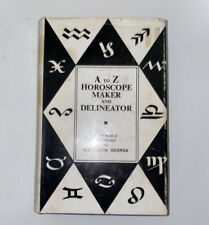 A to Z Horoscope Maker and Delineator book of Astrology Llewellyn George 1970