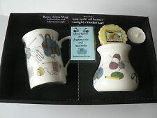 Knitting Mug & oil burner gift set - Gift box mug, oil burner Yankee melt t.lite