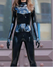 100% Latex Catsuit Rubber Black Suit Stylish Tights Size XXS~XXL