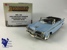 1/43 BROOKLIN 183 CHRYSLER WINDSOR CONVERTIBLE COUPE 1955 WISTERIA BLUE