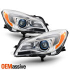 For 2014-2017 Buick Regal Halogen Projector Headlights Chrome Left+Right Pair  for sale