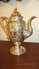 Incredible Wm Gale & Sons Coin Silver Coffee Pot 1851