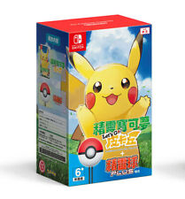 Nuevo Nintendo Switch vayamos Pokemon Pikachu juego Poke Monster Ball Juego Plus