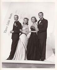 FRED ASTAIRE VERA ELLEN ARLENE DAHL THREE LITTLE WORDS MGM DBW Portrait Photo