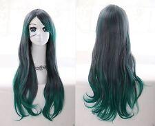 W-26 grün green mix 70cm Locken Harajuku Lolita Curl COSPLAY Perücke WIG