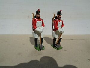 Britains #2182 Fort Henry Guard Pioneers painted lead toy soldiers lot of 2, TD