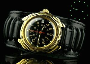 VOSTOK KOMANDIRSKIE Commander 2414 Russian Soviet Mechanical Military Wristwatch