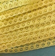 Vintage Trim - Pale Yellow French Lace 10 mm Wide Trim by the Yd :Made in France