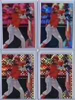 2020 Topps Chrome SHOHEI OHTANI Pink Prism XFractor x2 Lot - Los Angeles Angels