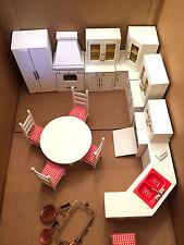 Vintage Dollhouse Miniature Kitchen Set, Signed Binkee Pitty Pat 22 pcs.