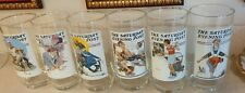 1987 Norman Rockwell Complete Set of 6 Glasses Saturday Evening Post Arby's