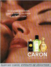 ▬► PUBLICITE ADVERTISING AD Parfum Perfume CARON 1992