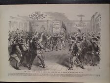 New York Tammany Hall Billy Wilson Zouaves Oath Civil War Frank Leslie's Print