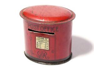 GvR era Post Office Red Post Box Tin Money Piggy Bank