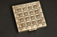 Ancien poudrier Argent 1900 Chine Antique Chinese export Silver powder compact