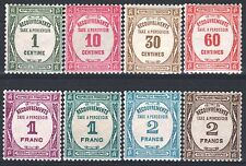 "FRANCE STAMP TAXE 55 / 62 "" SERIE 8 TIMBRES "" NEUFS xx LUXE   M963"