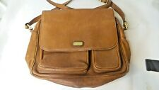 Land Brown Leather Purse Multi Pockets