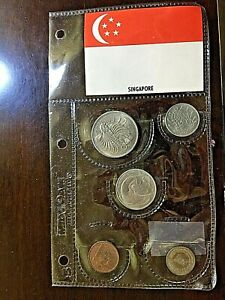 Singapore 5 pc 1967 Mint Set  Only 8,000 sets issued Gem Quality Original Pack!