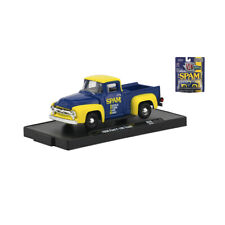 M2 Machines 11228-R56-18-41 Ford F-100 Camión Azul/Amarillo Escala 1:64 Neu !°