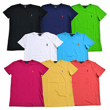 Camiseta para mujer Ralph Lauren Jersey Camiseta Manga Corta Cuello Redondo XS S M L XL Nuevo con etiquetas rl