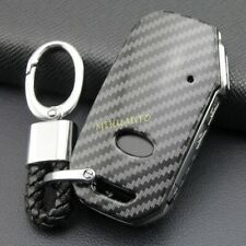 Smart Car Key Chain Fob Case For Kia K5 K3 Forte Soul Niro Seltos Carbon Fiber