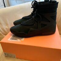 Nike Air Fear of God 1 Black Brand New size 12 100% Authentic Ships ASAP