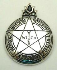 Witch Virtues Pentacle sterling silver necklace by Peter Stone Magick Protection
