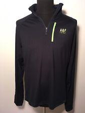 Abercrombie & Fitch Herren Sport Shirt Longsleeve Sport XL XXL Schwarz Fitneß