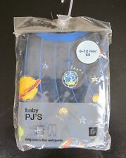 Baby GAP Outer Space Pajama Set Long Sleeve Top & Pants Blue 6-12 Months New