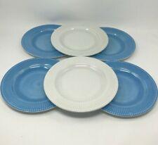 New 6 Williams Sonoma Blue White Mix Melamine Salad Plates Dessert Shatterproof