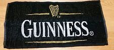 Guinness Bar Towel Black White Gold