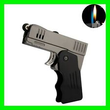Unique Dual Flame Jet Torch / Soft Flame 2 in 1 Gun Pistol Lighter ~ REFILLABLE