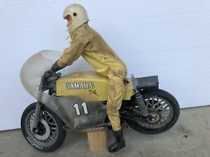 VINTAGE ELECK RIDER R/C 1/6 SCALE MOTORCYCLE RIDER Kyosho FOR PARTS OR REPAIR