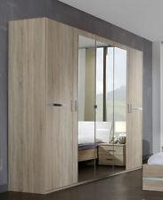 SlumberHaus German Modern Anna Large Light Oak Mirror 5 Door 225cm Wardrobe