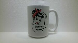 "Rosie the Riveter Style Personalized ""BARBARA"" Mug"