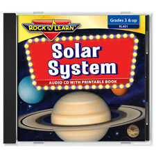 Solar System CD & Printable Book by Rock 'N Learn (New)