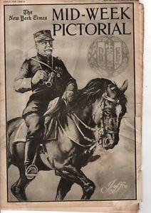 1915 NY Times Mid-Week Pictorial October 7 - Von Hindenburg; Polish Jews; Monks