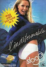 Publicité advertising 1986 Lingerie les culottes Sloggi