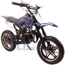 FREE SHIPPING KIDS 49CC 2 STROKE GAS MOTOR DIRT MINI POCKET BIKE BLUE P DB50X