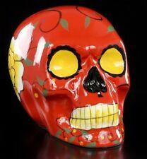 Messicano Teschio - Ceramica Rosso - Fantasy Teschio Dekostatue