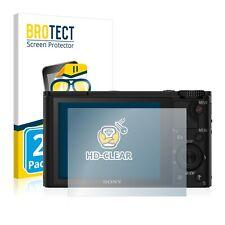 2x Displayschutz Klar für Sony Cyber-Shot DSC-H400 Schutzfolie Displayfolie