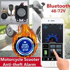 Motorcycle Scooter anti theft Remote Alarm System GPS One-button start 48-72V