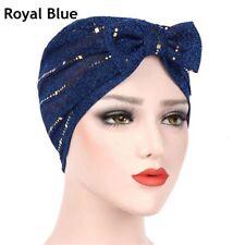 Bonnet Head Wraps Sleep Hat Bright Silk Hair Loss Chemo Indian Turban Hat