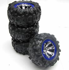 1/16 Summit Tires & WHEELS (BLUE, Set 4, Traxxas #72074
